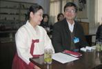 韩国釜山女子大学李英子茶道教师与公刘子先生在一起